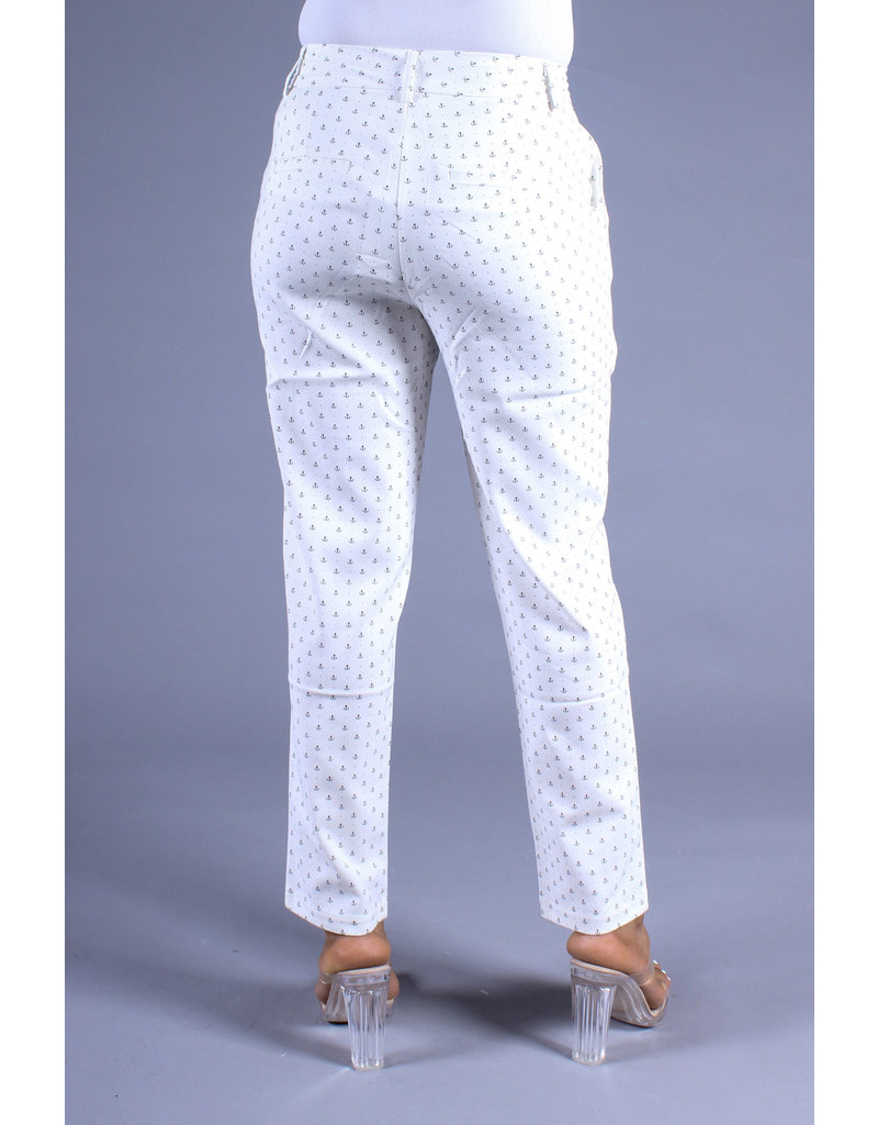 Anchors Up Pants White