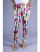 Floral Patch Striped Pants