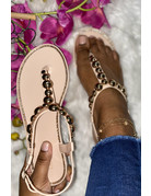 Heart Breaker Sandals Beige