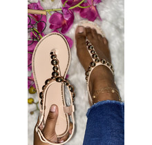 Heart Breaker Sandals Beige