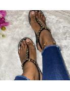 Heart Breaker Sandals Black