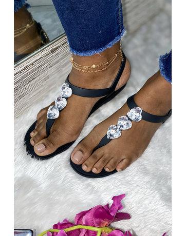 Love Wins Sandals Black