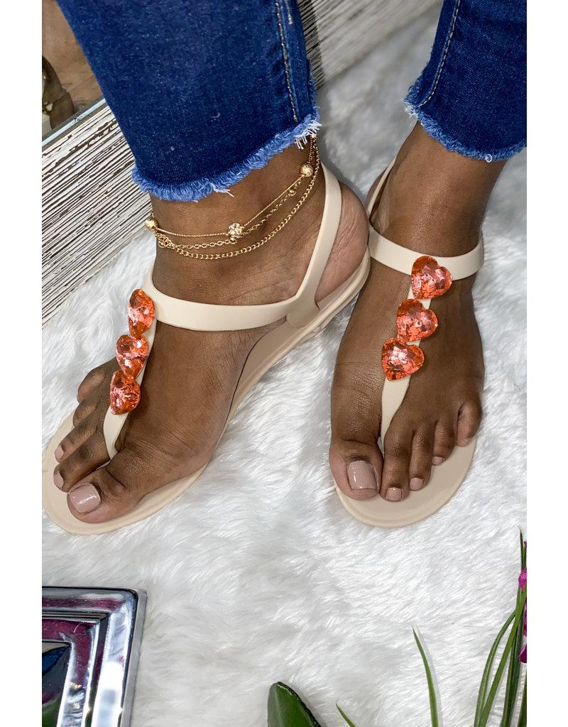 Love Wins Sandals Beige