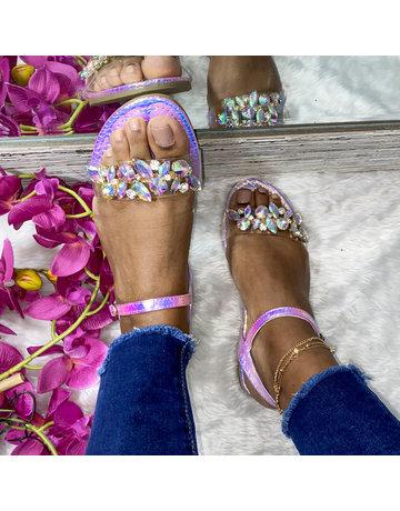 Living Lavish Sandals - Hologram