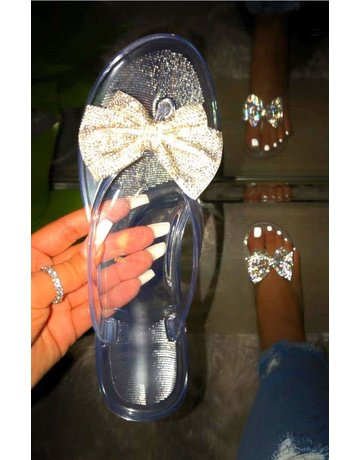Lucky Bow Sandals Clear