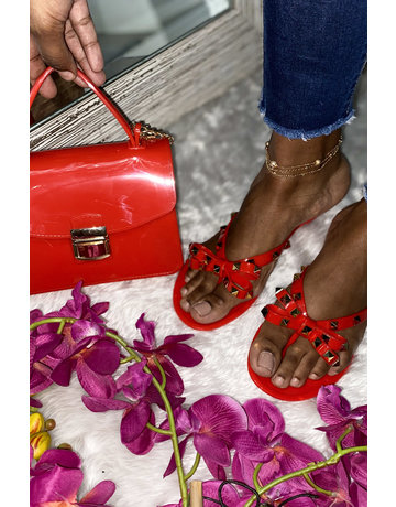 Sweetie Sandals Red/Gold