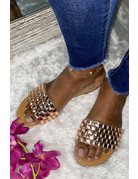 Glam Ego Sandals - Rose Gold