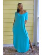 Stay Chill Maxi Dress Aqua