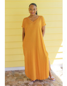 Stay Chill Maxi Dress Mustard