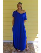 Stay Chill Maxi Dress Royal Blue