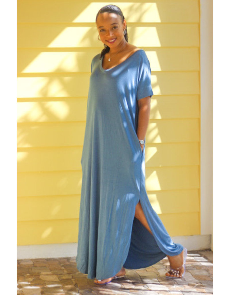 Stay Chill Maxi Dress Slate