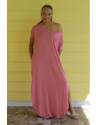 Stay Chill Maxi Dress Dusty Rose