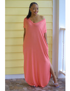 Stay Chill Maxi Dress Coral