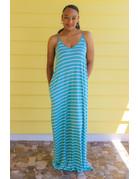Sit Back & Relax Striped Maxi Dress Mint