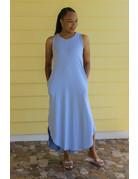 Keeping It Casual Maxi Dress Blue