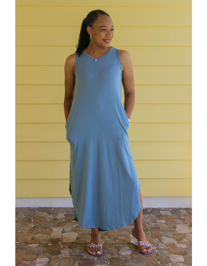 Keeping It Casual Maxi Dress Sage