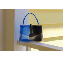 Double Cross Bag - Cobalt/Black