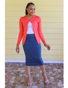 Less Hassle Pencil Skirt - Teal