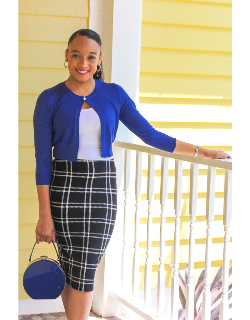 Off The Grid Pencil Skirt