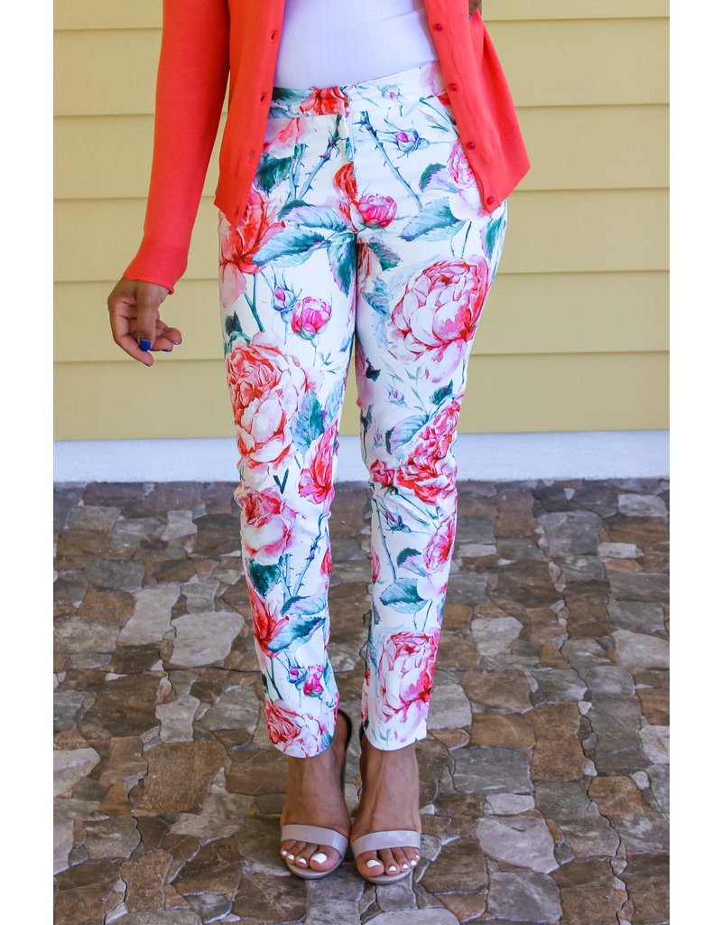 Color Palette Floral Pants