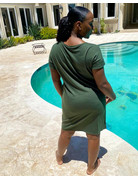 Keep Your Cool Dress Army Green