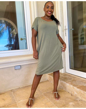 Keep Your Cool Dress Light Olive