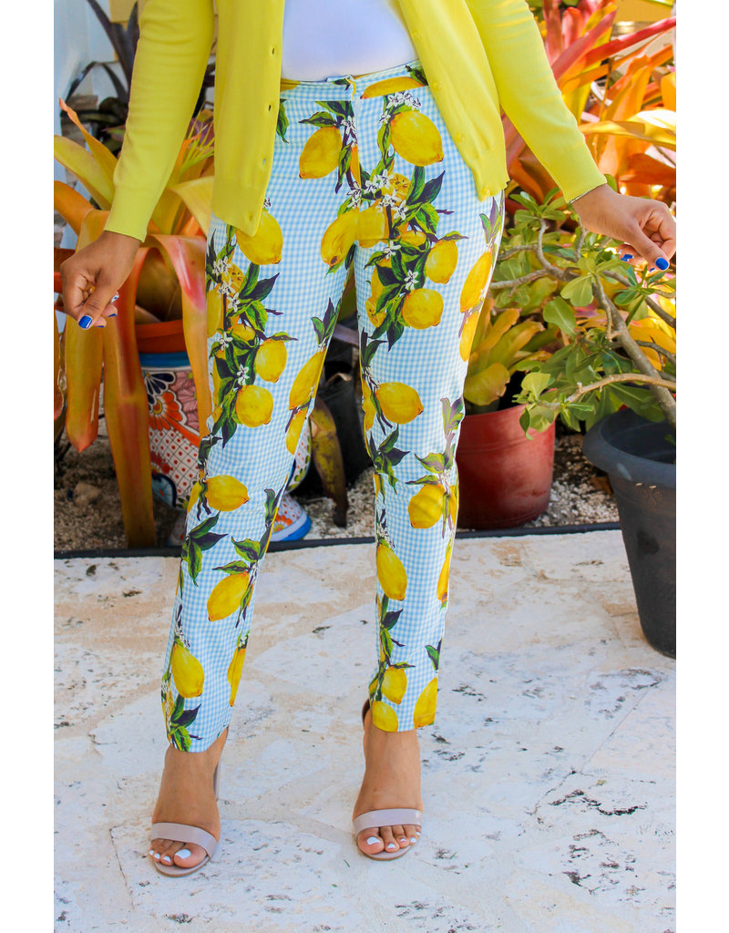 Fresh Squeeze Lemon Ankle Pants