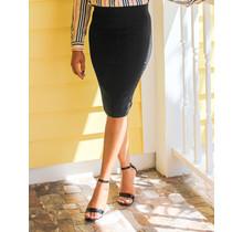 No Fuss Midi Skirt Black