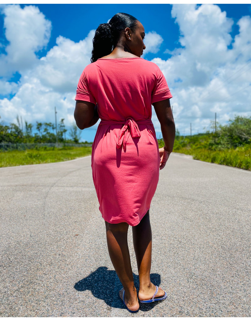 All Day Tie Dress Coral