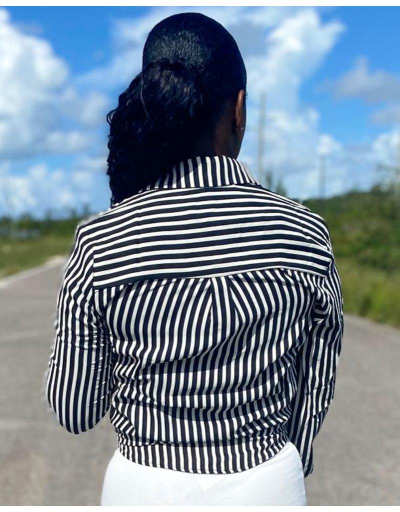 In Between Striped Top