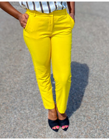 Well Paid Ankle Pants Yellow