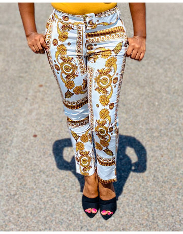Heads Or Tails Belted Ankle Pants
