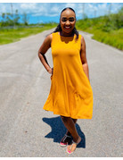 Nice and Easy Dress Mustard