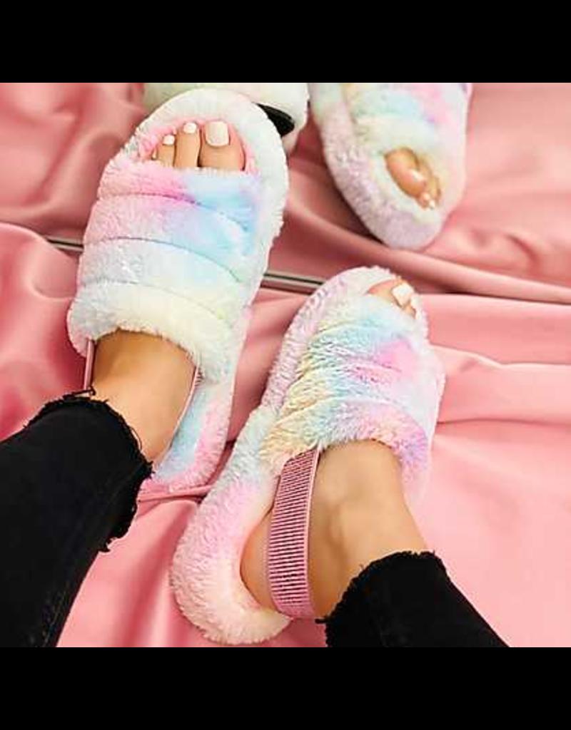 Keep Me Warm Fur Sandal - MULTI