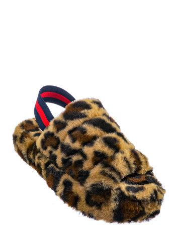 Keep Me Warm Fur Sandal - LEOPARD