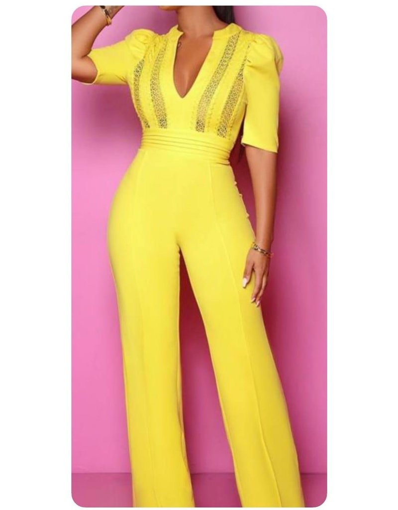 Twisted Lime Crochet Jumpsuit