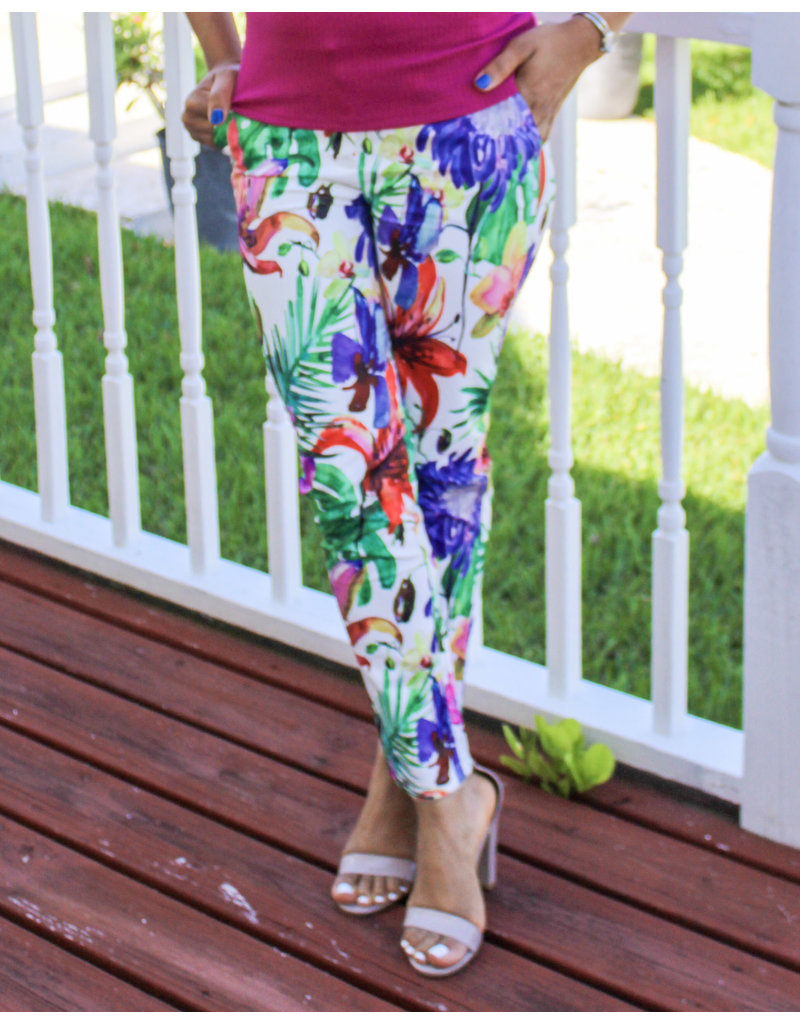 Spring Time Bloom Ankle Pants