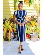 Got It Twisted Dress Royal Blue