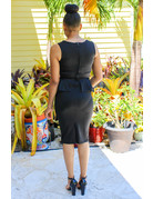 No Trouble Belted Dress