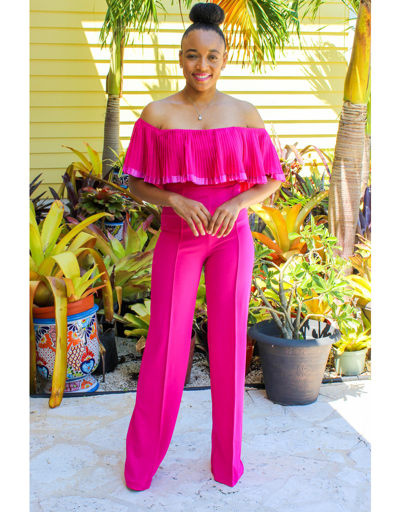 I'm A Barbie Girl Ruffle Jumpsuit