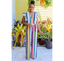 Cool Colada Striped Jumpsuit