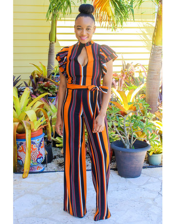 Falling Stripes Jumpsuit