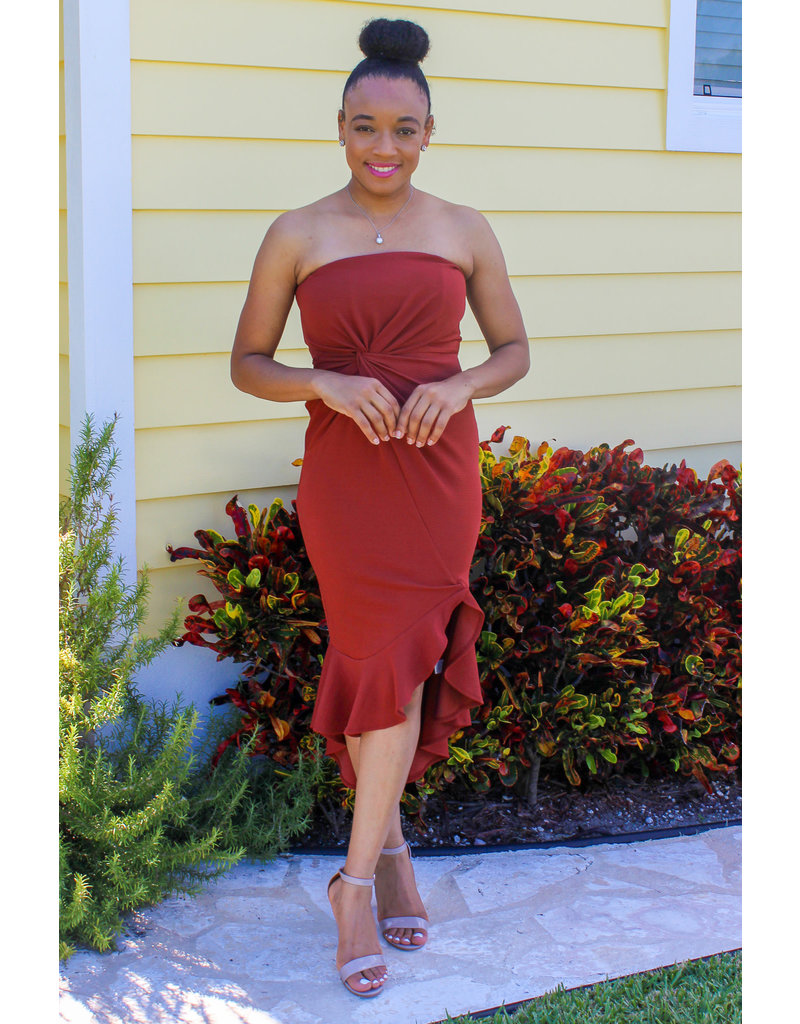 Ex To See Ruffle Dress