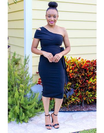 Dinner Date One Shoulder Dress
