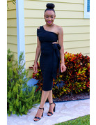 Dinner Date One Shoulder Dress