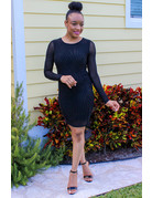 After Party Sheer Bodycon Dress