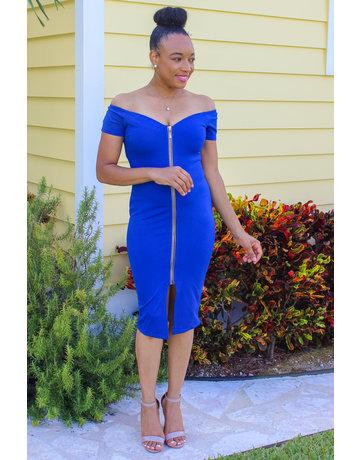 Imagine That Zippered Dress Royal