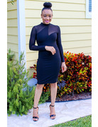 Master Plan Sheer Bodycon Dress