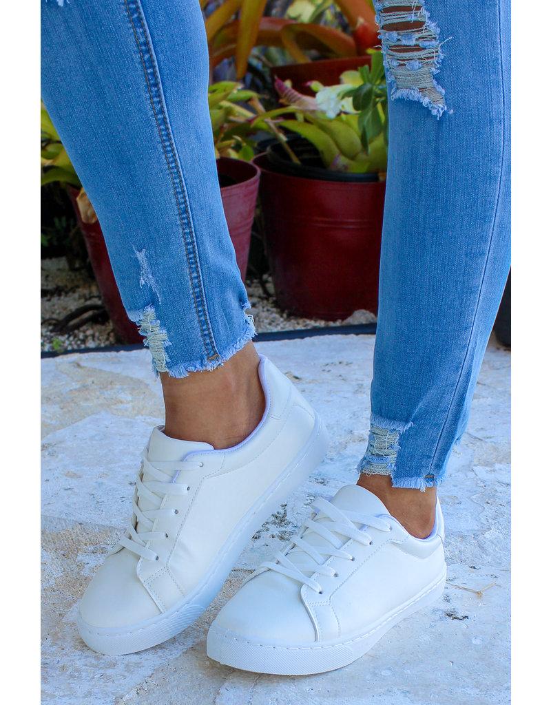 Run Away Sneakers - WHITE