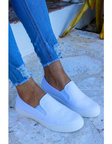 Get Going Slip-On Sneakers - WHITE